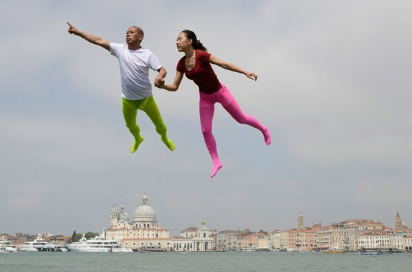 flying over venice li wei